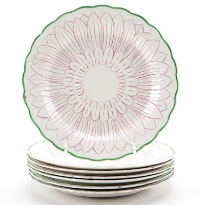 Wedgwood Floral Motif Ceramic Salad Plates