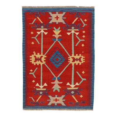 4'0 x 5'10 Handwoven Afghan Kilim Area Rug