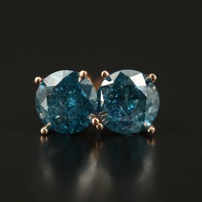 14K 1.28 CTW Diamond Solotire Earrings