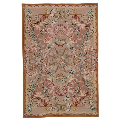 5'9 x 8'8 Handmade Sino-French Style Needlepoint Area Rug