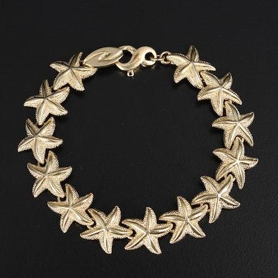 14K Starfish Link Bracelet
