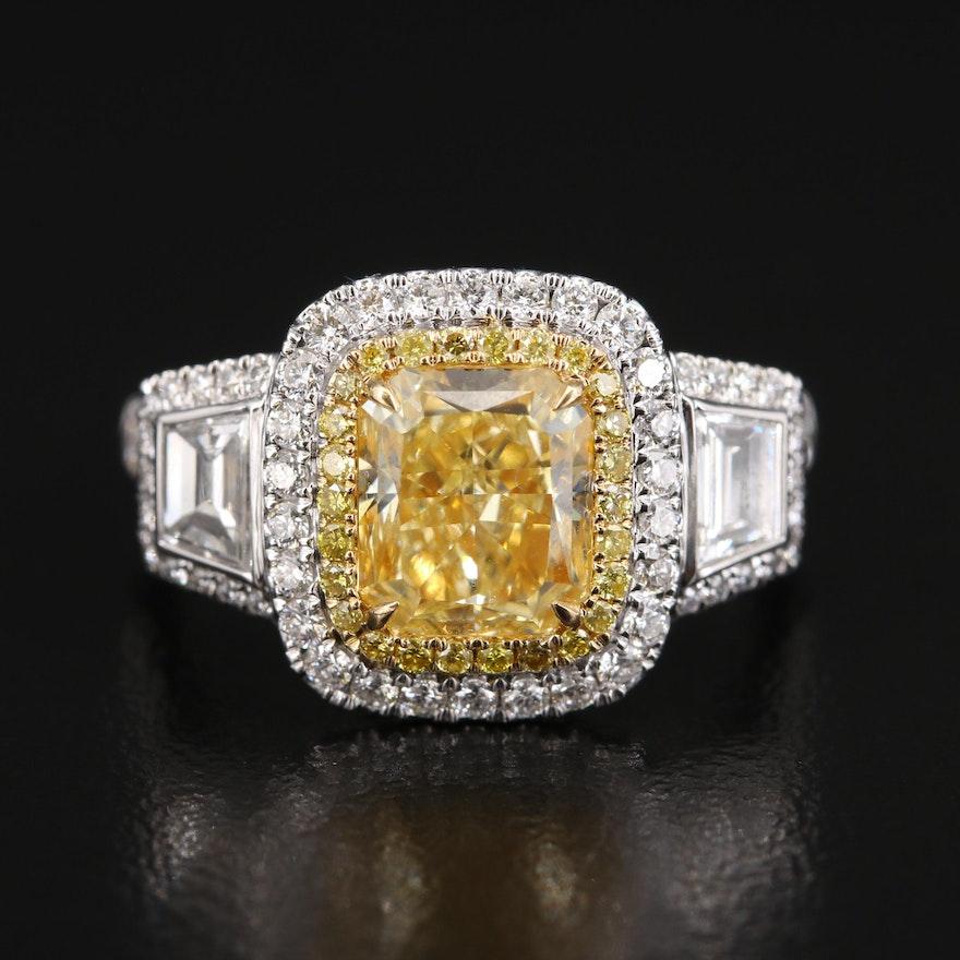 18K 3.05 CTW Diamond Ring