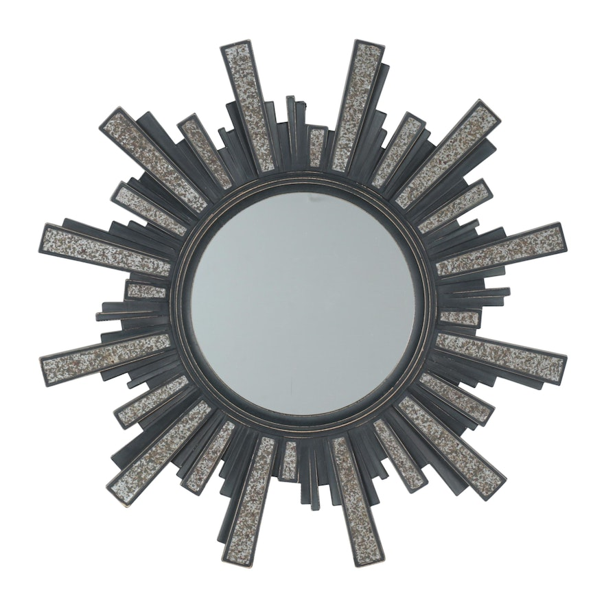 Starburst Art Deco Style Wall Mirror, Late 20th Century