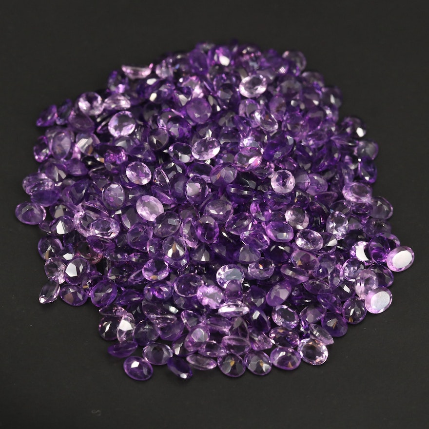 Loose 147.49 CTW Oval Faceted Amethysts