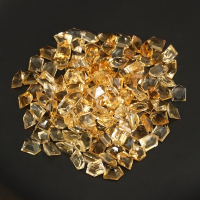 Loose 167.49 CTW Bullet Faceted Citrines