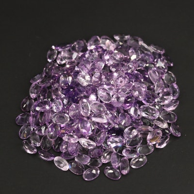 Loose 91.01 CTW Oval Faceted Amethysts