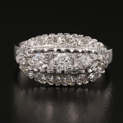 Vintage 14K Diamond Ring