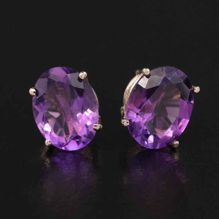 14K Amethyst Stud Earrings
