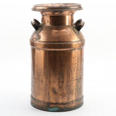 Follansbee Copper Milk Can, Early 20th Century