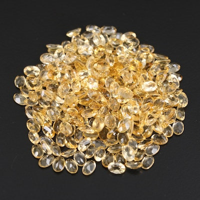 Loose 115.81 CTW Oval Faceted Citrines
