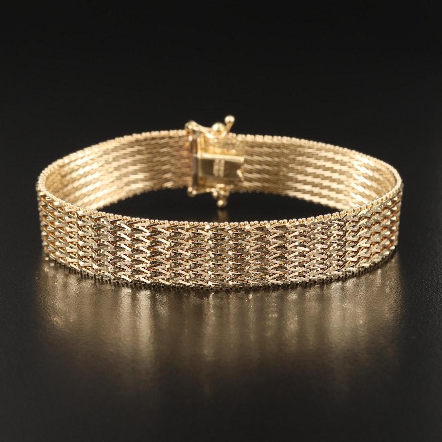 14K Riccio Chain Bracelet