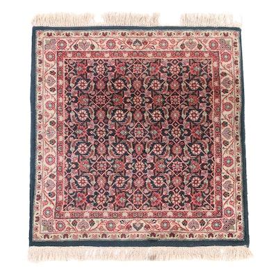 3' x 3'6 Hand-Knotted Persian Sarouk Herati Wool Area Rug