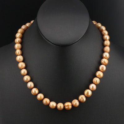 Baroque Pearl Necklace with 14K Clasp