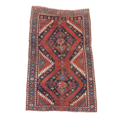 4'1 x 7' Hand-Knotted Caucasian Karabagh Area Rug