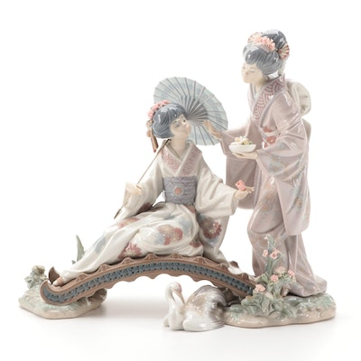 "Lladró ""Springtime in Japan"" Porcelain Figurine Designed by Salvador Debón"