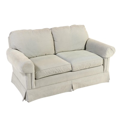 C.R. Laine Upholstered Rolled-Arm Loveseat