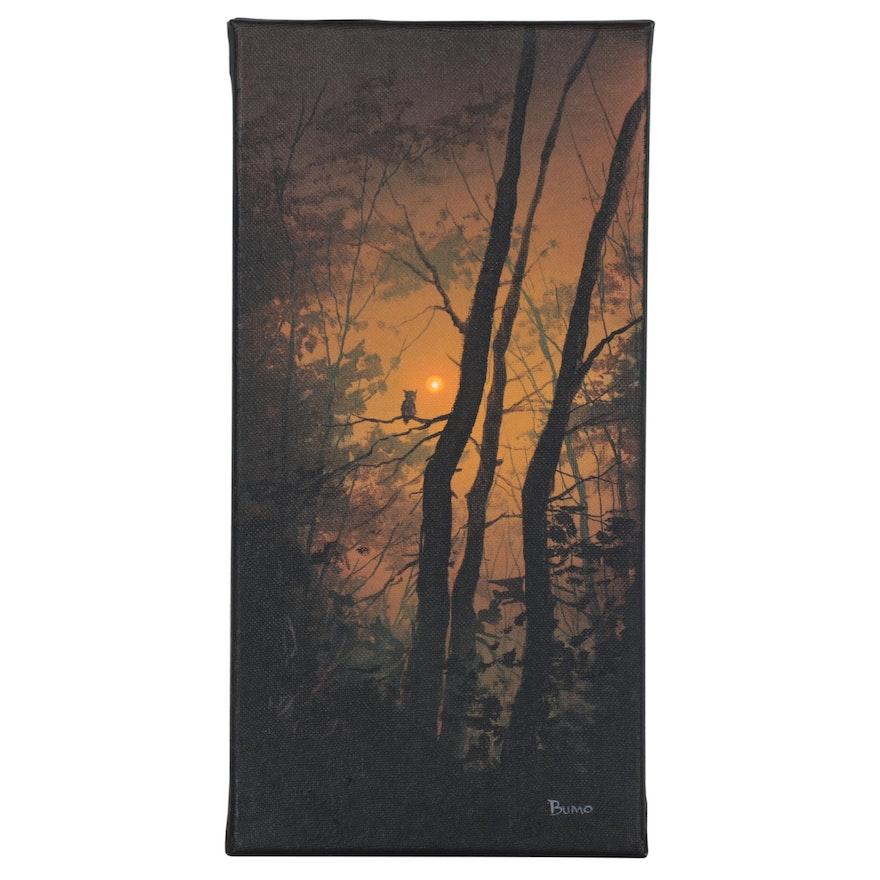 """Douglas """"Bumo"""" Johnpeer Landscape Oil Painting"""
