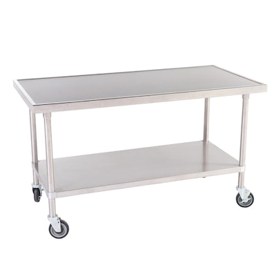 Advance Tabco VSS-305 Stainless Steel Two-Tier Rolling Work Table