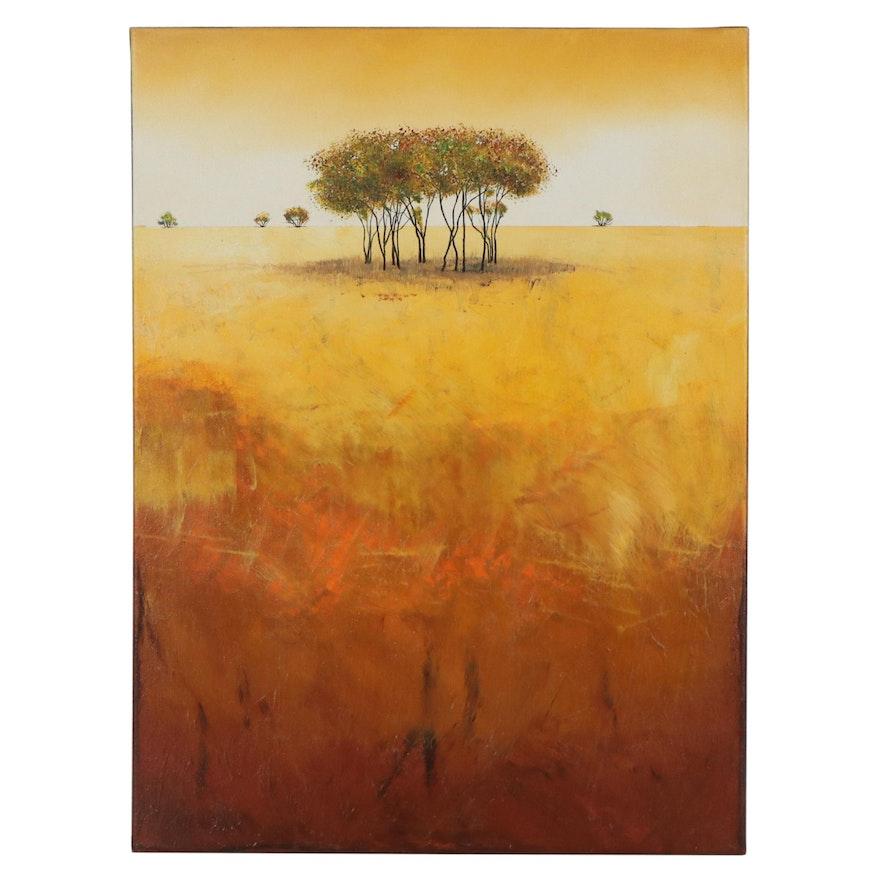Landscape Acrylic Painting, 21st Century