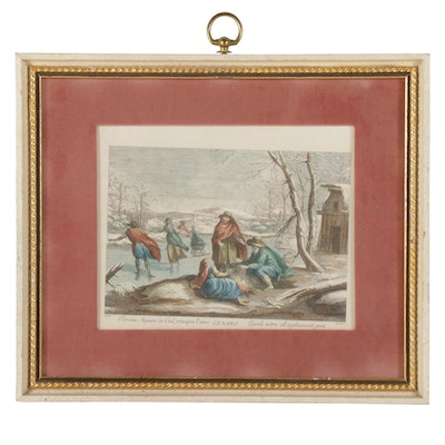 "Hand-Colored Lithograph after Francesco Bartolozzi ""Genaro"""