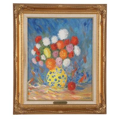 Rafael Casado Still Life Floral Oil Painting
