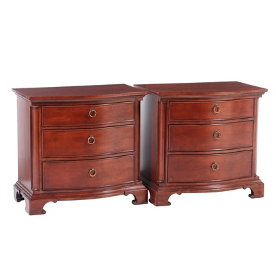 "Pair of Universal Furniture ""Better Homes & Gardens"" Serpentine Nighstands"