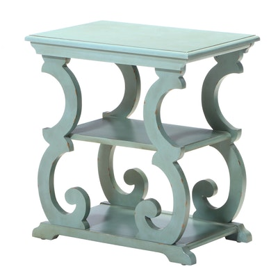 Broyhill Furniture Painted Three-Tier Side Table