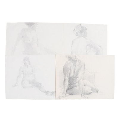 John Tuska Figural Nude Graphite Drawings