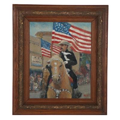 Kevin Kasik Oil Painting of Man on Horseback
