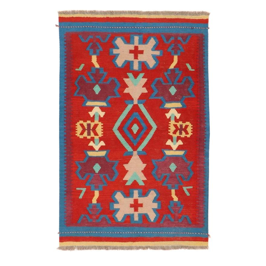 3'2 x 5'1 Handwoven Turkish Kilim Area Rug
