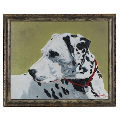 David Letterfly Acrylic Painting of Dalmation, 2005