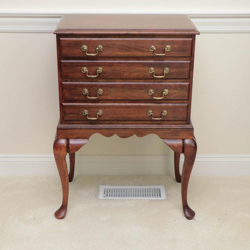Queen Anne Style Mahogany Flatware Storage Cabinet