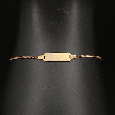 Unoaerre 14K Italian ID Bracelet
