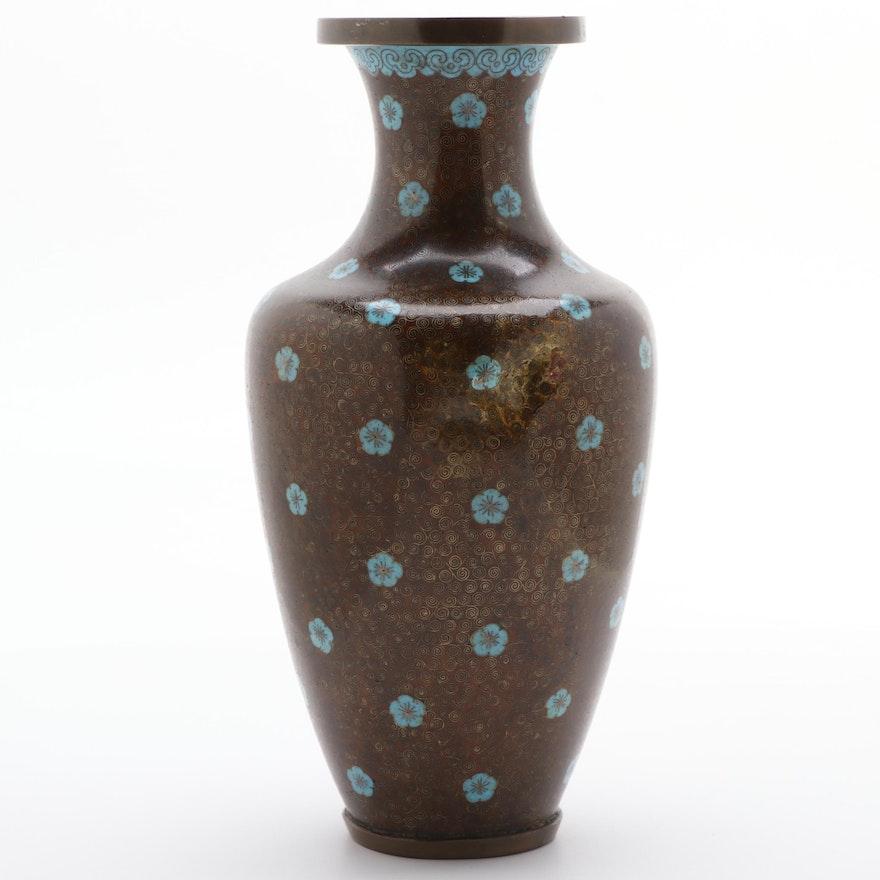 Chinese Cloisonné Vase with Floral Motif