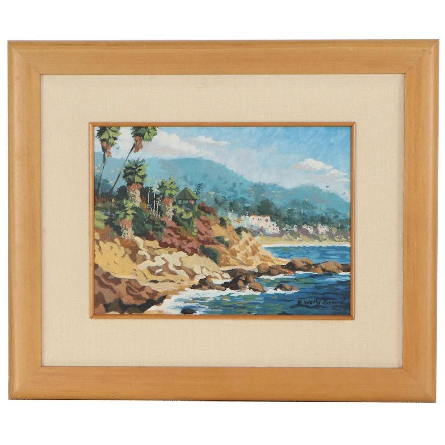 Robin Wethe Altman Coastal Landscape Oil Painting