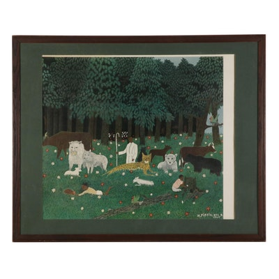 """Giclée after Horace Pippin """"Holy Mountain III,"""" Late 20th-21st Century"""