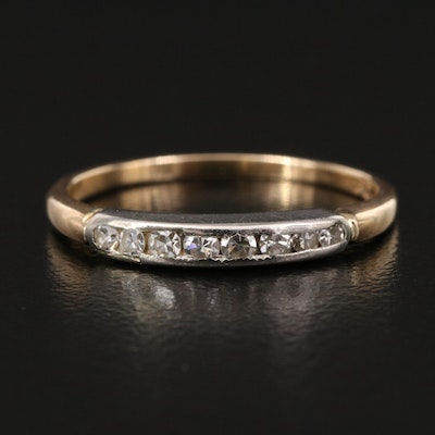Vintage 14K Diamond Band with Palladium Setting