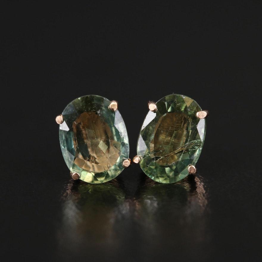 14K 2.65 CTW Color-Change Sapphire Stud Earrings