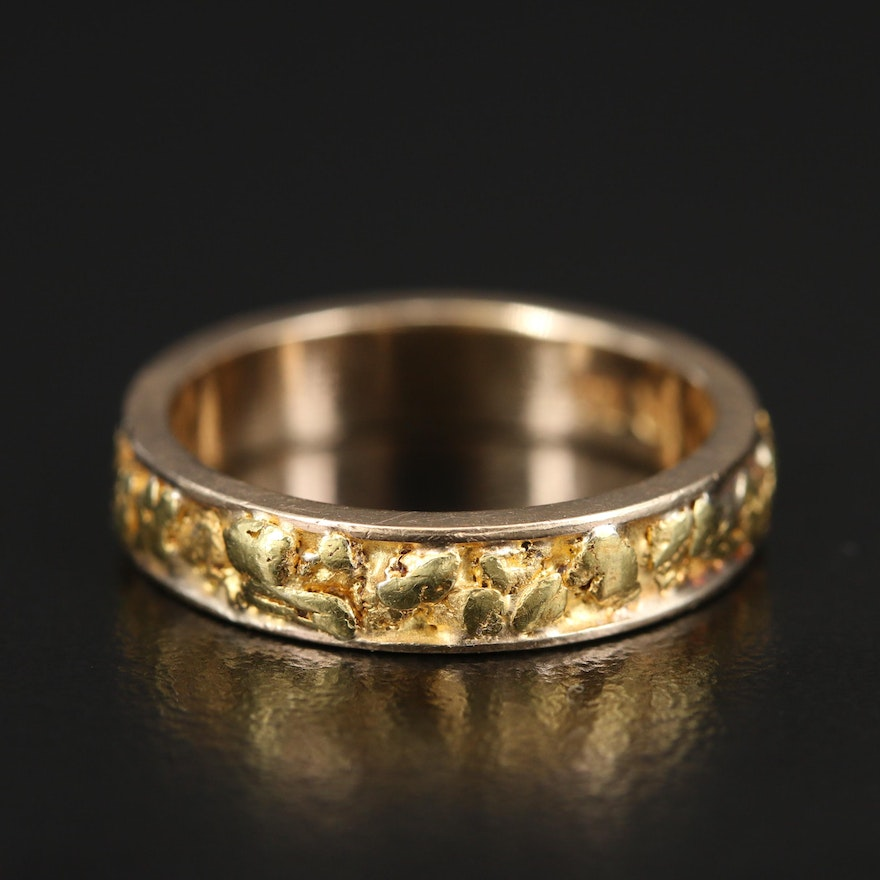 14K Nugget Style Band