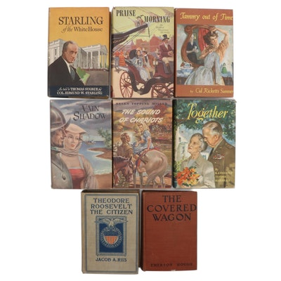 """The Covered Wagon"" by Emerson Hough and More Books, Early/Mid-20th Century"
