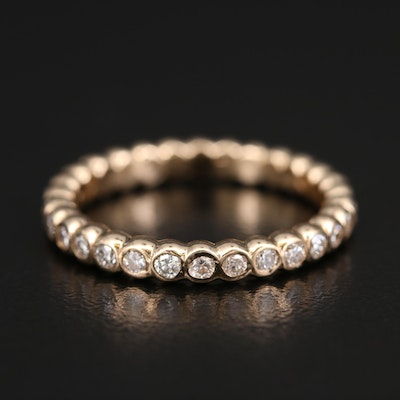 14K Diamond Bezel Eternity Band
