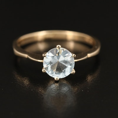 14K Aquamarine Ring
