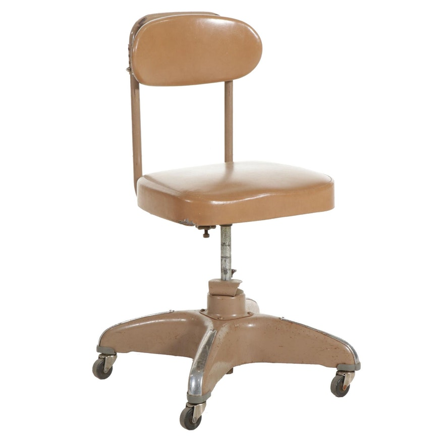 Industrial Office Chair, Mid-20th Century