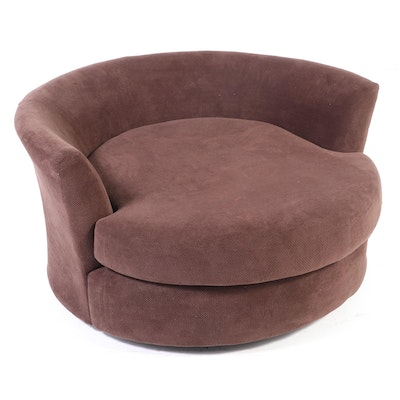 Albany Industries Upholstered Oversized Swivel Lounge Chair