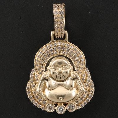 14K 1.15 CTW Diamond Budai Pendant