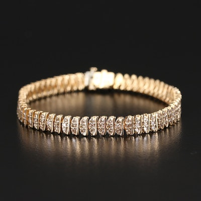 14K 3.10 CTW Diamond Multi-Row Bracelet