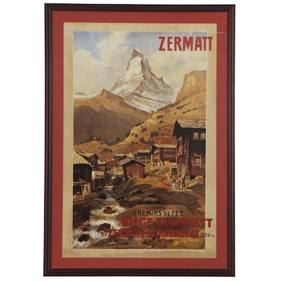 "Offset Lithograph after Anton Reckziegel ""Zermatt Matterhorn,"" 21st Century"