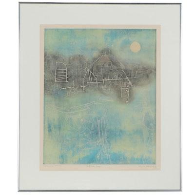 "Shoichi Hasegawa Etching with Aquatint ""Pleine Lune,"" 1972"