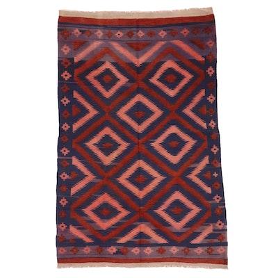6'1 x 9'5 Handwoven Afghan Kilim Area Rug