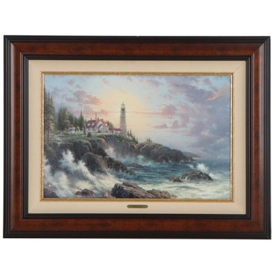 "Offset Lithograph after Thomas Kinkade ""Clearing Storms,"" Late 20th Century"